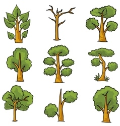 Ornament tree nature in doodles vector