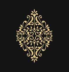 ornamental floral element for design vector image