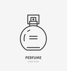 Perfume flat line icon beauty care sign vector