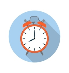 Picture red alarm clock vector