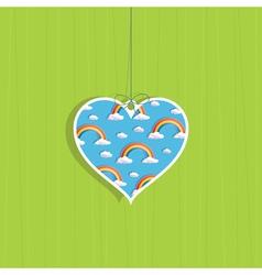 rainbow love vector image