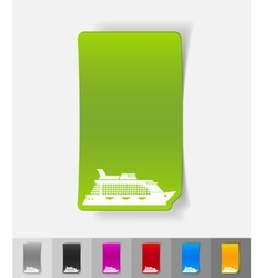 Realistic design element cruise ship vector