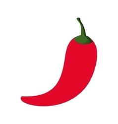 Red chili pepper icon vector