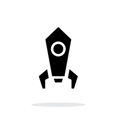 Rocket simple icon on white background vector image