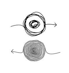scribble insane arrows vector image