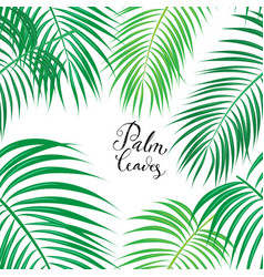 Seamless background with tropical leaves vector