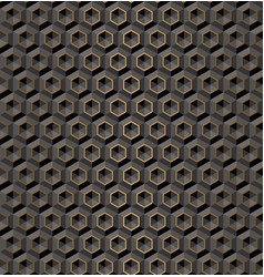 seamless black volume 3d background geometric vector image