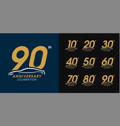 Set luxury car anniversary logotype automobile vector
