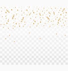 shiny golden confetti vector image