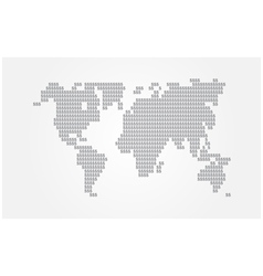 Sign of dollor world map vector