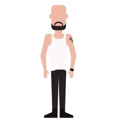 single man with pants and shirt icon vector image