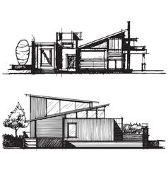 Sketch of architecture design vector image