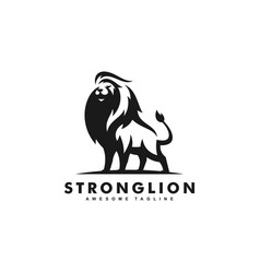 strong lion black color design concept vector image
