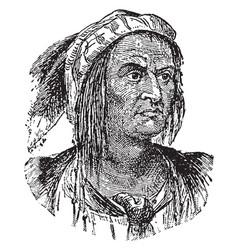 Tecumseh vintage vector