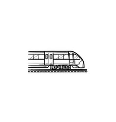 train hand drawn outline doodle icon vector image
