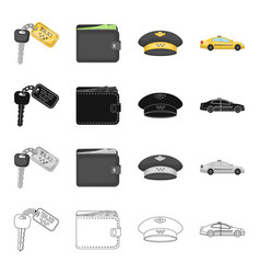 transportation travel accessories and other web vector image