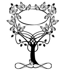 Tree frame flourishes vector