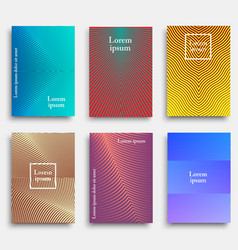 trendy cover design with geometric line shapes vector image
