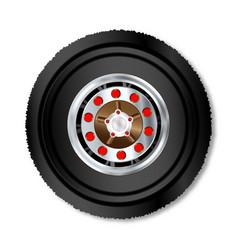 truck wheel vector image
