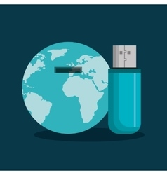 usb memory flash icon vector image