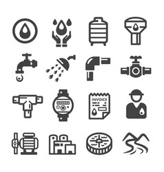 Water suppplyplumbing icon vector