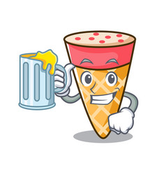 With juice ice cream tone mascot cartoon vector