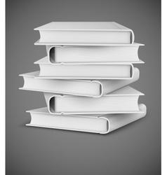 Big books pile vector image