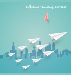difference thinking concept vector image vector image