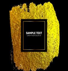 gold paint glittering textured art luxury vector image