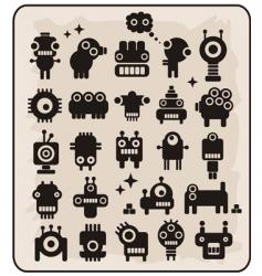 robot monsters vector image vector image