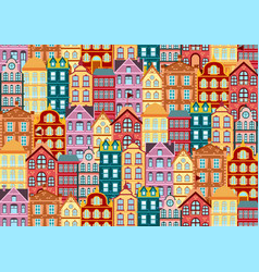 seamless pattern with colorful bright vector image