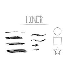 Set of Hand Drawn Doodle Sketchy Grunge Liner vector image vector image