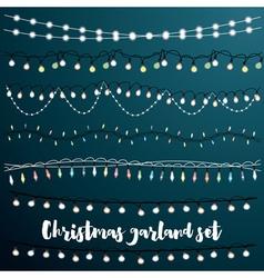 Christmas Garlands Set vector image vector image