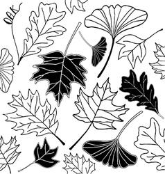 leaf sketch doodle set 3 vector image vector image