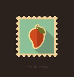mango flat stamp tropical fruit vector image