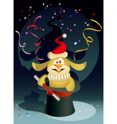 new year rabbit the magician vector image vector image