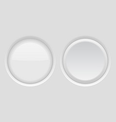 round buttons light gray plastic push buttons vector image