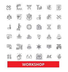 workshop seminartraining conference garage vector image vector image