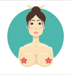 Asian nude girl vector image vector image