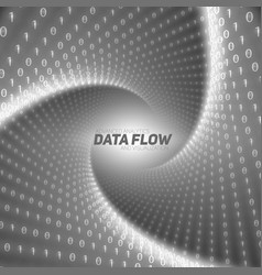 Data flow visualization black flow vector