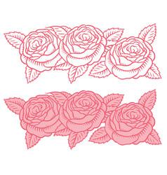 Drawing flower garland vector