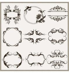 set of elegant calligraphic frames vector image vector image