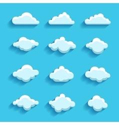 Clouds sky heaven icon symbol label logo sign vector