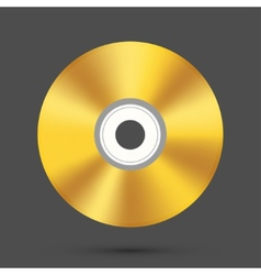 modern disc on gray background vector image