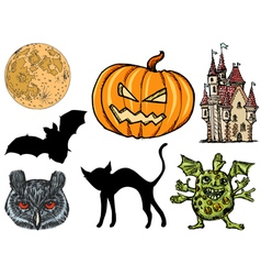 set for Halloween vector image vector image
