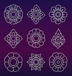 Thai motifs Vintage decorative elements Han vector image