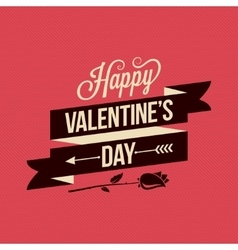 Valentines Day Card Vintage Poster Background vector image vector image