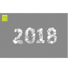 2018 glowing on a transparent background vector image
