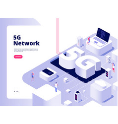 5g concept wifi telecom 5g technology speed vector