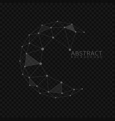 abstract globe shape vector image